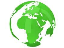Globe de planète de la terre 3d rendent Vue de l'Afrique Photo libre de droits