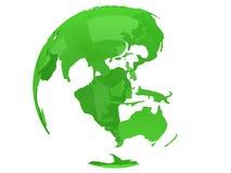 Globe de planète de la terre 3d rendent Vue de la Chine Images stock
