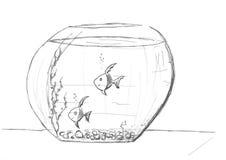 Globe de poissons Photo libre de droits