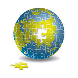 Globe de puzzle Photo stock