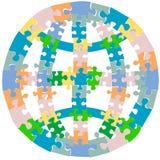 Globe de puzzle denteux Photographie stock