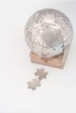 Globe de puzzle denteux Photographie stock libre de droits