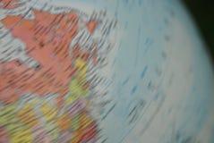 Globe de rotation Photos stock