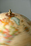 Globe de rotation Images libres de droits