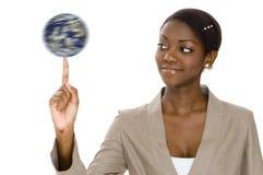 Globe de rotation photo stock