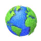 Globe de Sketh du monde. Photographie stock libre de droits