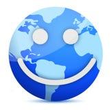 Globe de sourire de la terre Images libres de droits
