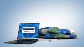 Globe de téléchargement illustration stock