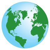 Globe de vecteur Image stock
