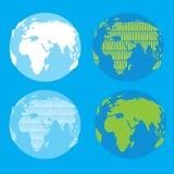 Globe de vecteur illustration stock