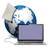 Globe de vecteur avec le carnet Image stock