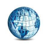 Globe de vecteur avec le texte Image stock