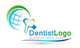 Globe Dental clinic dentist cross people care medical health care logo design icon on white background. In ai10 illustrations for company stock illustration