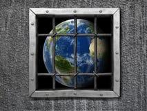 Globe derrière la barrière photos libres de droits