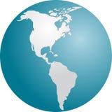 globe des Amériques illustration stock