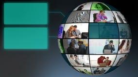 Globe des vidéos de vie quotidienne de sociétés Images stock