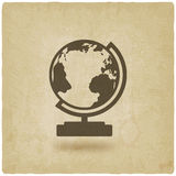 Globe design element old background Stock Image