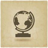 Globe design element old background Stock Image