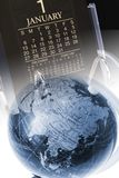 Globe and Desk Calendar Stock Photography