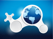 Globe and diagram network illustration design Royalty Free Stock Photo