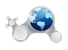 Globe and diagram network illustration design Stock Photos