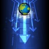 Globe digital future technology Stock Image