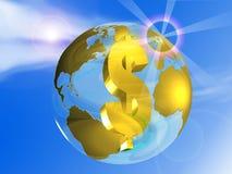 Globe and dollar Stock Photos