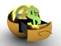 Globe of dollar gold Stock Photography