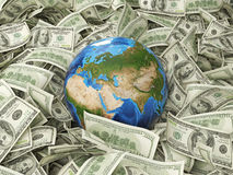 Globe and dollar Royalty Free Stock Image