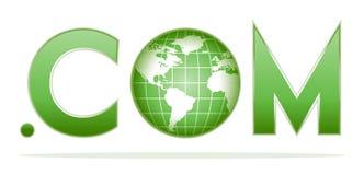 Globe with dot com Royalty Free Stock Image