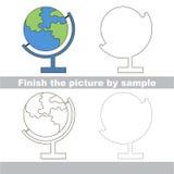 Globe. Drawing worksheet. Royalty Free Stock Photography