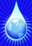 Globe in drop of water Stock Image