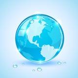 Globe and drops Stock Photos