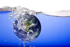 Globe Drowning royalty free stock image