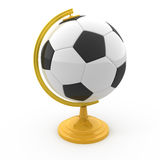 Globe du football Photos libres de droits