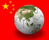 Globe du football : La Chine illustration de vecteur