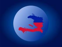 Globe du Haïti Photographie stock