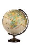 Globe du monde - d'isolement images stock