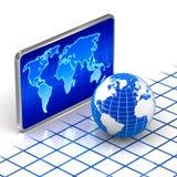 Globe du monde et concept digital de carte du monde illustration libre de droits