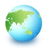 Globe du monde - l'Asie et l'australie illustration de vecteur