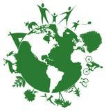 Globe du monde mini Photos stock