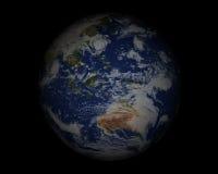 Globe du monde sur black003 Photos libres de droits