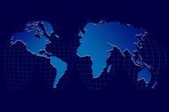 Globe du monde sur un réseau Photo libre de droits
