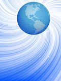Globe and dynamic lines Royalty Free Stock Photos