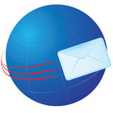 Globe e-mail Stock Photo
