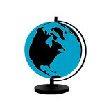 Globe of earth. Illustration of a globe of earth isolated Stock Photo