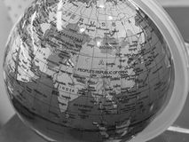 Globe of Earth in B&W royalty free stock image