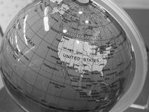 Globe of Earth in B&W royalty free stock photography