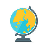 Globe earth geography element icon vector illustration. Royalty Free Stock Photo