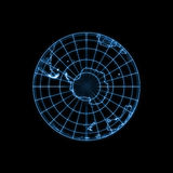 Globe Earth glowing light map outline Stock Photos